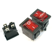 10 Red Button 4 Pin DPST Illuminated Boat Car Rocker Switch AC 6A 250v 10A 125V