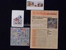 LOT HERGE TINTIN Prospectus Decalcomanie Cartes(422)