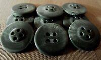 8 BOUTONS  vert Kaki Marbré 18 mm * 4 trous *  1,8 cm Button * Couture mercerie