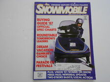 New ListingSnowmobile magazine 1987 Buyers Guide Yamaha, Ski-Doo, Arctic Cat, Polaris
