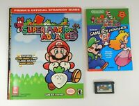 Super Mario Advance 2001 Nintendo Game Boy Advance and Guides Stored for Years