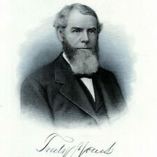 JOHN HYNDMAN ADAMS WILMINGTON DELAWARE 1880s Portrait Steel Engraving Art Print