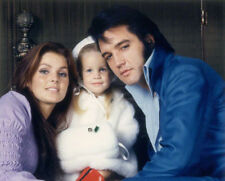 Priscilla, Lisa-Marie & Elvis Presley UNSIGNED photograph - L8106 - NEW IMAGE!!