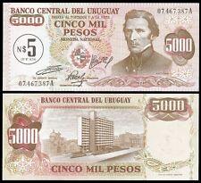 Uruguay 5 N. PESOS on 5000 PESOS P 57 UNC
