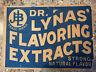 OLD ANTIQUE ADVERTISING SIGN CARDBOARD QUACK MEDICINE DR LYNA BLUE C1910
