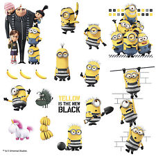 DESPICABLE ME 3 MOVIE WALL DECALS 17 BiG Minions Gru Stickers Kids Bedroom Decor