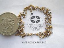 60 x Preciosa 3ss / 8pp Crystal diamanté gold-foiled chatons