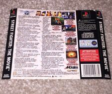 Street Fighter The Movie Sony PS1 PlayStation 1 Game Back Insert Only