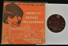 UK PICTURE SLEEVE Davy Jones PYE 318 Put Me Amongst The Girls