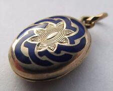 Small antique enamel mourning locket