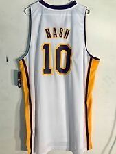 Adidas Swingman NBA Jersey Los Angeles Lakers Steve Nash White sz 4X