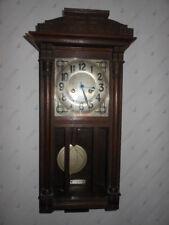 alte Wanduhr Pendeluhr  Uhr Facettenschliff Antik