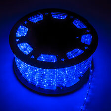 150' LED Rope Light 110V 2-Wire Party Home Christmas Outdoor Decor Lighting Blue