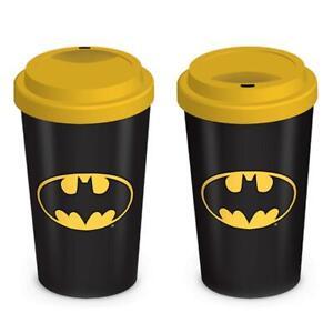 Official DC Comics BATMAN LOGO 12oz. Boxed Ceramic Travel Mug NEW
