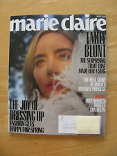 Marie Claire Magazine March 2020 Emily Blunt NEW!