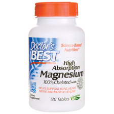 Doctor's Best High Absorption Magnesium 100% Chelated 120 Tabs
