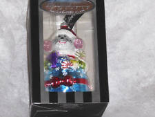 "Christopher Radko Celebrations ""Mouse Inside a Bag of Presents"" Ornament ~Nib"