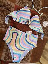 ymi swimsuit 2 Piece Bikini Set Push Up Padded High Rise