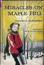 Virginia Sorenson MIRACLES ON MAPLE HILL Newbery Medal 1st Edition HC/DJ Rare