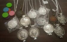 Wholesale lot of 12 Essential Oil Necklace Necklaces Diffuser Jewelry With Pads