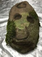 1 Architectural 16th Century Antique Solid Carved Primitive Stone Head Corbel