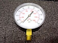 """3-1/2"""" Test Pressure Gauge, 0 to 200 psi 4FLY1 (RC)"""