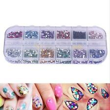 3600pcs Nail Art Rhinestones Glitter Decoration 3D Tips Diamond Gem Wheel 1.5mm