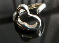 Tiffany & Co Elsa Peretti Open Heart Sterling Silver Ring