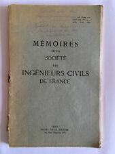 MEMOIRES DE LA SOCIETE INGENIEURS CIVILS FRANCE 1949 FASCICULES N°3 ET 4