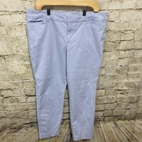 Old Navy Womens Size 14 Sky Blue Cotton Stretch Chino Pixie Pants K8