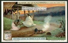 India Foot Kissing Greeting Baise-pied Des Todas75 Y/O Trade Ad Card