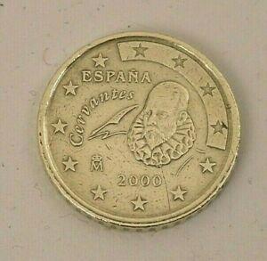 Monnaie Cent Espagne 2000 Erreur RAR Monnaie Décentralisée Côté M De Cervantes