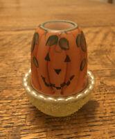 Mosser Vaseline Glass Tea Light Fairy Lamp