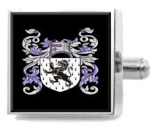 Jones England Heraldry Crest Sterling Silver Cufflinks Engraved Message Box