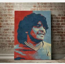 MARADONA Stampa Tela Canapa Poster Canvas Calcio Football Art Unframed Print