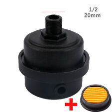 USA 1/2BSP 20mm Male Thread Air Compressor Intake Filter Muffler Silencer kit