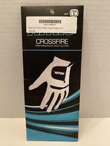NEW Nitro Crossfire Performance Golf Glove Men's Left Hand Color White black L