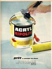 PUBLICITE ADVERTISING 0105  1964  les peintures ACRYL RIPOLIN