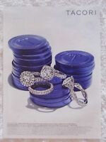 2013 Magazine Advertisement Page Tacori Diamond Rings Jewelry Pocker Chips Ad