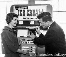 Ice Cream Vending Machine - 1950s - Vintage Photo Print