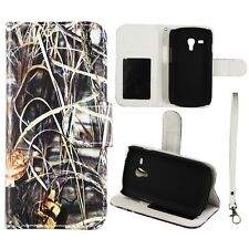 For Samsung Galaxy S3 Mini i8190 Wallet PU Leather Camo Sawgrass RT Case Cover