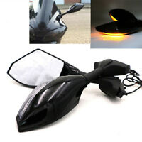 AU Rearview Mirrors LED Turn Signal Indicator Fit Honda CBR600RR CBR500R CBR300R