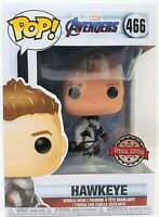Funko Pop Marvel Avengers End Game Hawkeye (Team Suit) #466 + Pop Protector