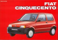 Fiat Cinquecento La Collection Series history development specifications driving