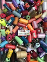PACK OF 50 x 1000 yards POLYESTER THREAD - MIXED/ASSORTED Colours