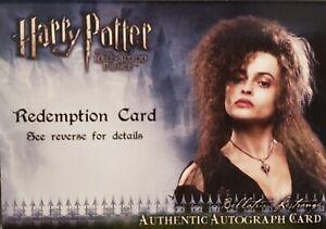 HARRY POTTER BELLATRIX AUTO Half Blood Prince REDEMPTION Helena Bonham Carter