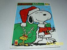 PEANUTS My Favorite Christmas Puzzle 12 piece Collector Item Free US shipping