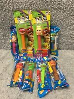 Mixed Lot of 8 Sesame Street Muppets PEZ Dispensers 1990s / 2000s - MOC & BAGS