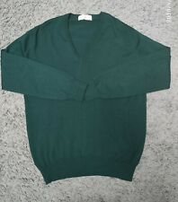 John smedley medium Green V Neck New Wool Jumper