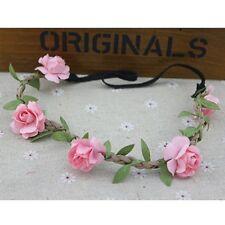 Floral Flower Wedding Festival Party Crown Elastic Boho Weave Hairband Headband